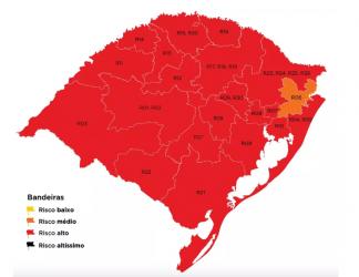 Nova Santa Rita segue entre os municípios onde o risco de contágio é alto