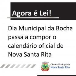 Dia Municipal da Bocha passa a compor o calendário oficial de Nova Santa Rita