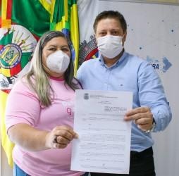 Projeto de autoria da vereadora Andréia Margarete é sancionado pelo Executivo Municipal
