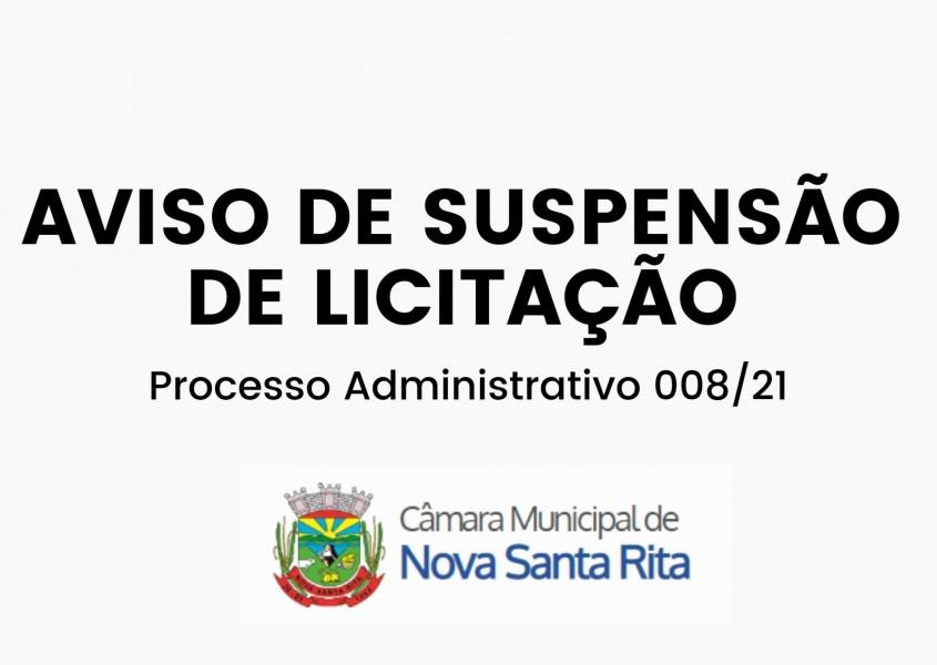 Câmara suspende processo licitatório