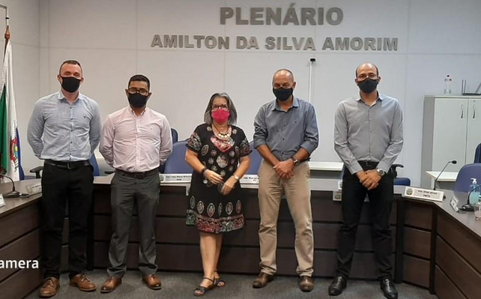 Vereadores de Santana do Livramento visitam o Legislativo Municipal